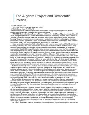 Issac_The Algebra Project and Democratic Politics.pdf
